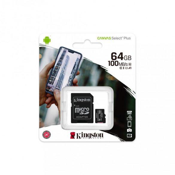 Memóriakártya SDmicro 64Gb Kingston SDC10G2/64 GBSP Clss 10