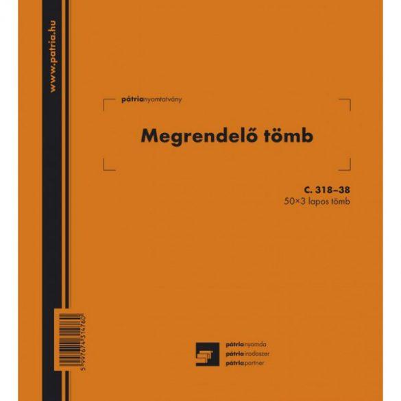 Megrendelő könyv 50x3