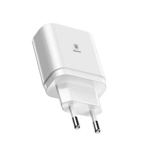 Baseus Adapter Töltő  220V 3x USB3 - 4A gyorstöltő funkcióval