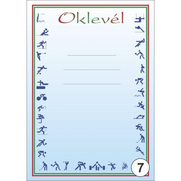 Oklevél/Emléklap A/4 különböző mintákkal