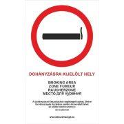 Piktogram Dohányzásra kijelölt hely!
