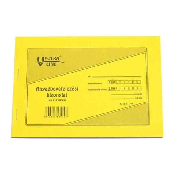 Anyag/Eszköz/ Bevételezési Bizonylat - 8 tételes 25x4 lapos