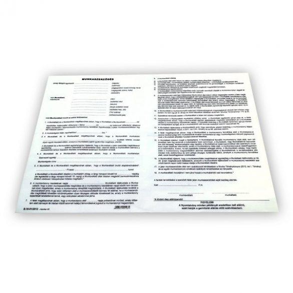 Munkaszerződés 3 lapos - garn A/4