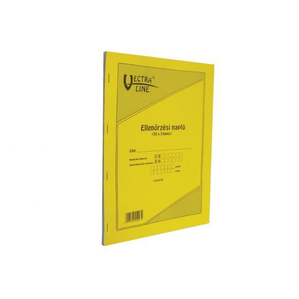 Ellenőrzési napló 25×3 lap - A/4 méret