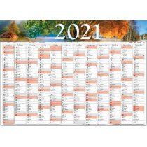 Plakát tervező naptár 2021, B1 (70×100 cm)