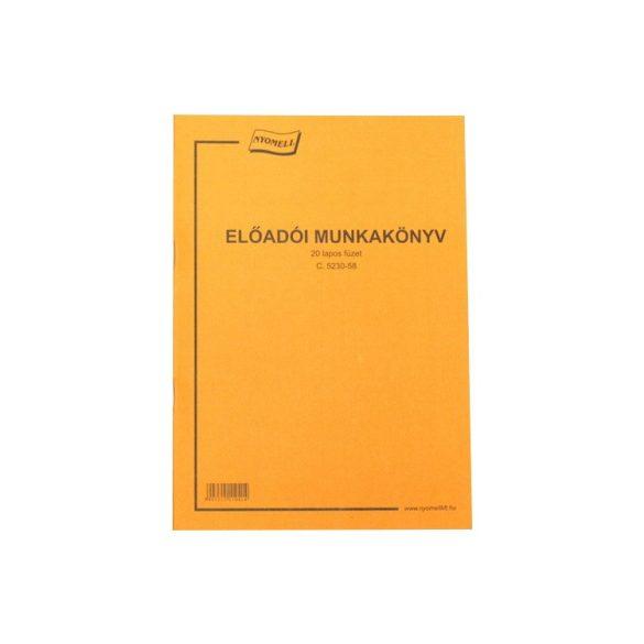 Előadói munkakönyv - A4 (20 lapos)