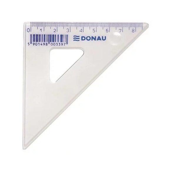 Vonalzó DONAU 8,5 cm háromszög - 45 fokos