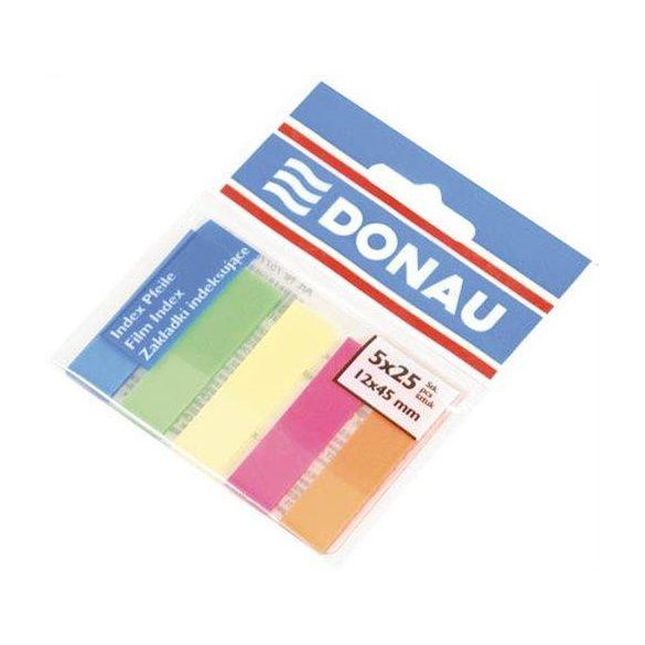 Oldaljelölő DONAU - Műanyag (5 neon szín, 5×25db, 12×45mm)