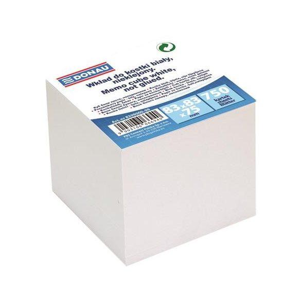 Jegyzettömb DONAU Nem ragasztott fehér lapokkal (83x83x75 mm)
