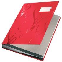 LEITZ  Aláírókönyv A4 - 18 részes, karton - Több színben