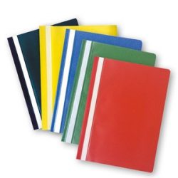 Gyorsfűző PVC A4 mérteben, különböző színekben