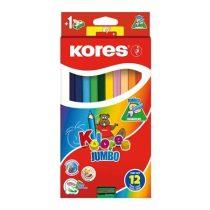 """KORES """"Jumbo"""" Színes ceruza készlet - 12 különböző szín"""