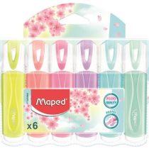 """Szövegkiemelő készlet MAPED """"Fluo Peps Quality""""-  6 különböző pasztell szín (1-5 mm)"""