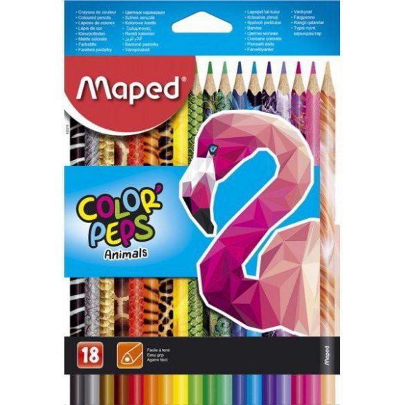 Színesceruza készlet MAPED Color Peps Animal - 18 db-os