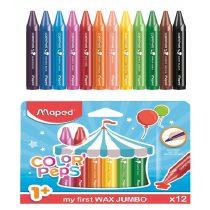 Zsírkréta MAPED Color Peps Maxi WAX JUMBO - 12 darabos