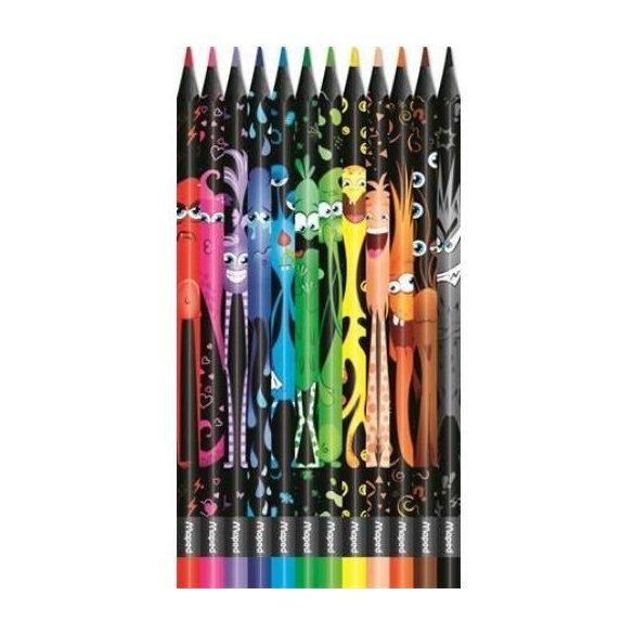"""Színes ceruza készlet MAPED """"Color'Peps Monster"""" 12 különböző szín"""