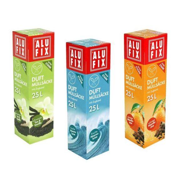 Szemeteszsák ALUFIX zárószalagos 25 liter - Többféle illattal
