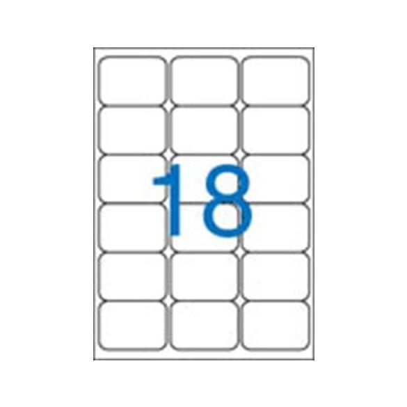 18 Etikett cimke/Lap (kerekített) Victoria A4