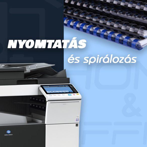 Nyomtatás A4 méretben - Akár spirálozással együtt