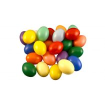 Műanyag húsvéti tojás (felül lyukasztott) - Vegyes színekben