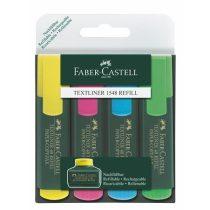 """Szövegkiemelő FABER-CASTELL """"Textliner 48"""" (1-5 mm) - 4 különböző szín"""