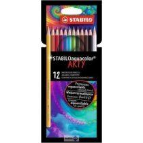 Akvarell ceruza Stabilo, 12 db-os készlet