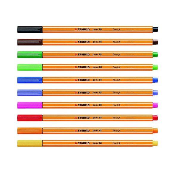 Tűfilc készlet Stabilo 10 db Különböző színekben