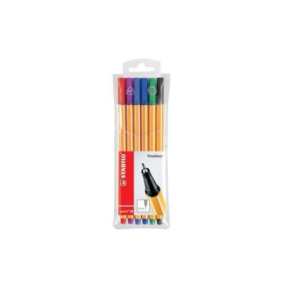 Tűfilc készlet Stabilo 6 db, különböző színek