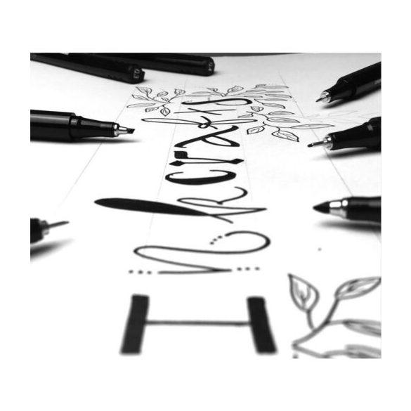ZEBRA Kalligrafikus marker,  (fekete) - Több méretben