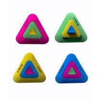 Radír YALONG Triangulum háromszögletű - Több színben