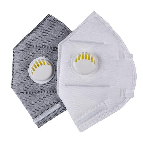 FFP2 (KN95 szelepes) maszk - 1 darabos csomagolásban (fehér vagy szürke)